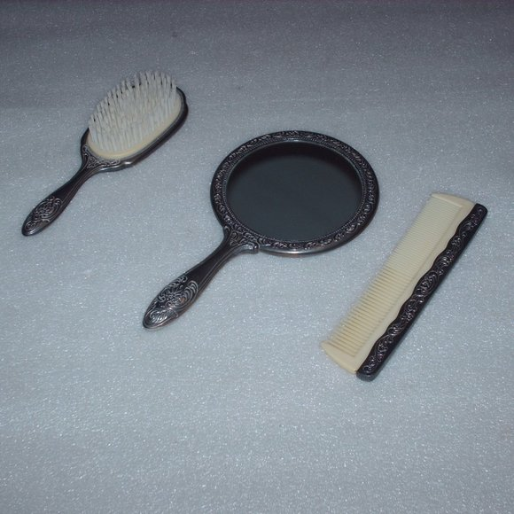 Other - Vintage 3 piece silver plated dresser/vanity set